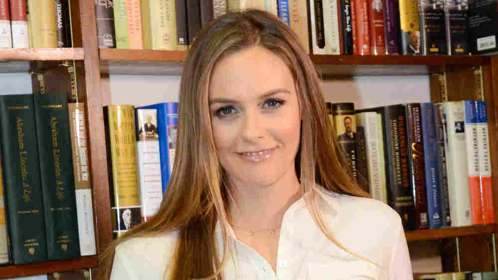 Actress Alicia Silverstone attends a book signing for her book The Kind Mama on April 15 in Huntington, N.Y.
