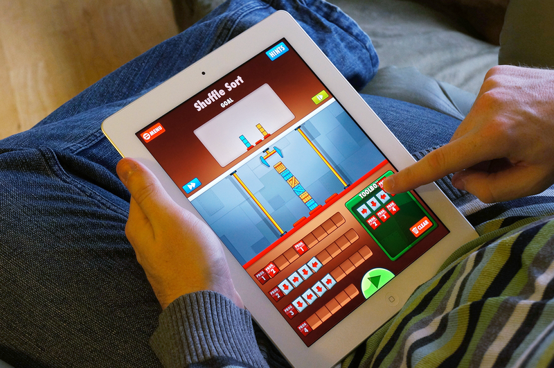 Older children can learn basic coding skills through this puzzle game.