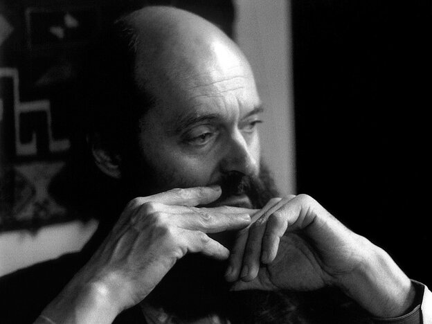 Estonian composer Arvo Pärt, creator of contemplative music, photographed in 1990 by influential patron Betty Freeman.