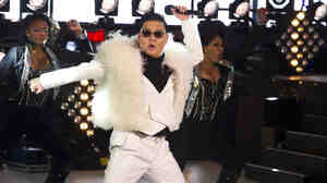 Psy performs in Times Square during New Year's Eve celebrations on Monday, Dec. 31, 2012, in New York.