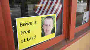 A sign supporting Army Sgt. Bowe Bergdahl is seen in Hailey, Idaho, on Sunday. Bergdahl, the sole American prisoner of war held in Afghanistan, was flown to a U.S. military