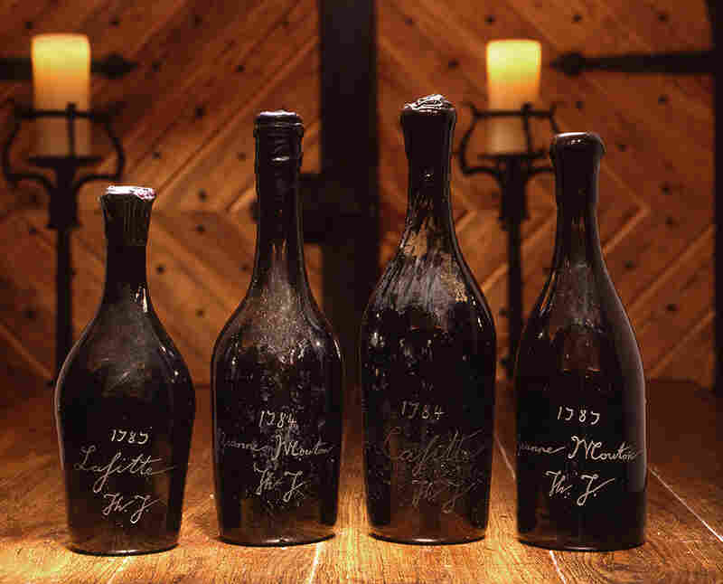 "The ""Jefferson bottles"" that Bill Koch paid some half a million dollars for and later discovered were fakes."