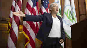 Environmental Protection Agency Administrator Gina McCarthy during her announcement Monday of a plan to limit power plant greenhouse gases.