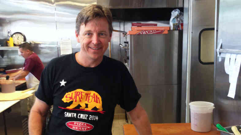 Chuck Hammers, owner of Pizza My Heart in San Jose, Calif., raised prices on slices by 25 cents and pies by about $1 after the minimum wage increase, and says he hasn't experienced a drop in business.