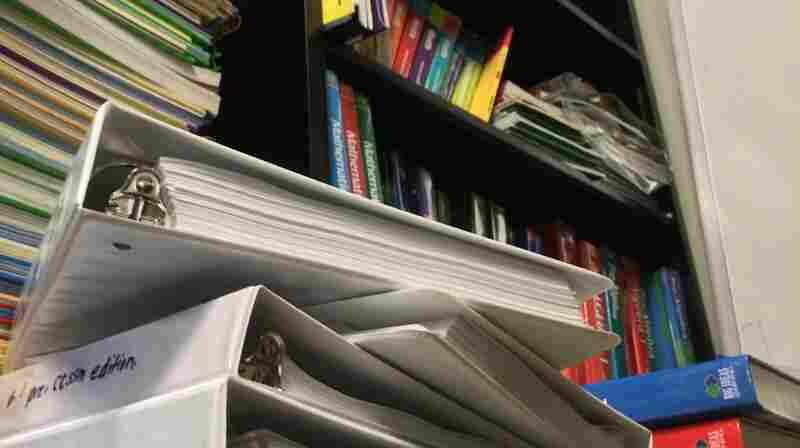 Just some of the more than 700 math books that have been reviewed for Common Core alignment by professor William Schmidt and his team at Michigan State's Center for the Study of Curriculum.
