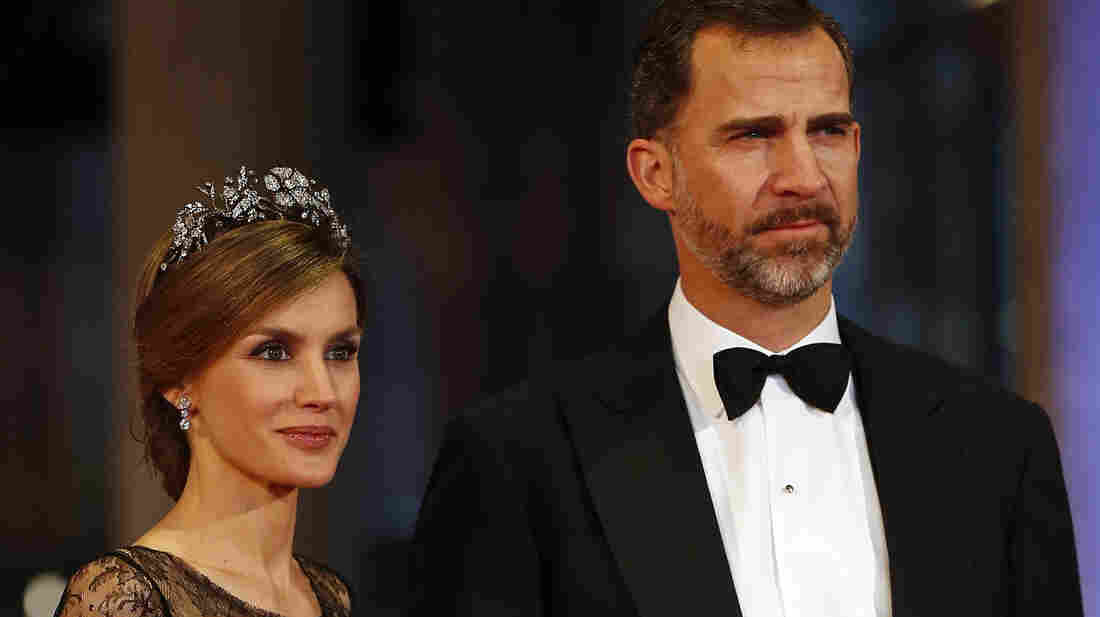 Spain's Crown Prince Felipe and Princess Letizia, shown here in Amsterdam last year, will become king and queen later this month. The popular Letizia, a former journalist from a middle-class background, will be the first commoner to become queen in Spain.