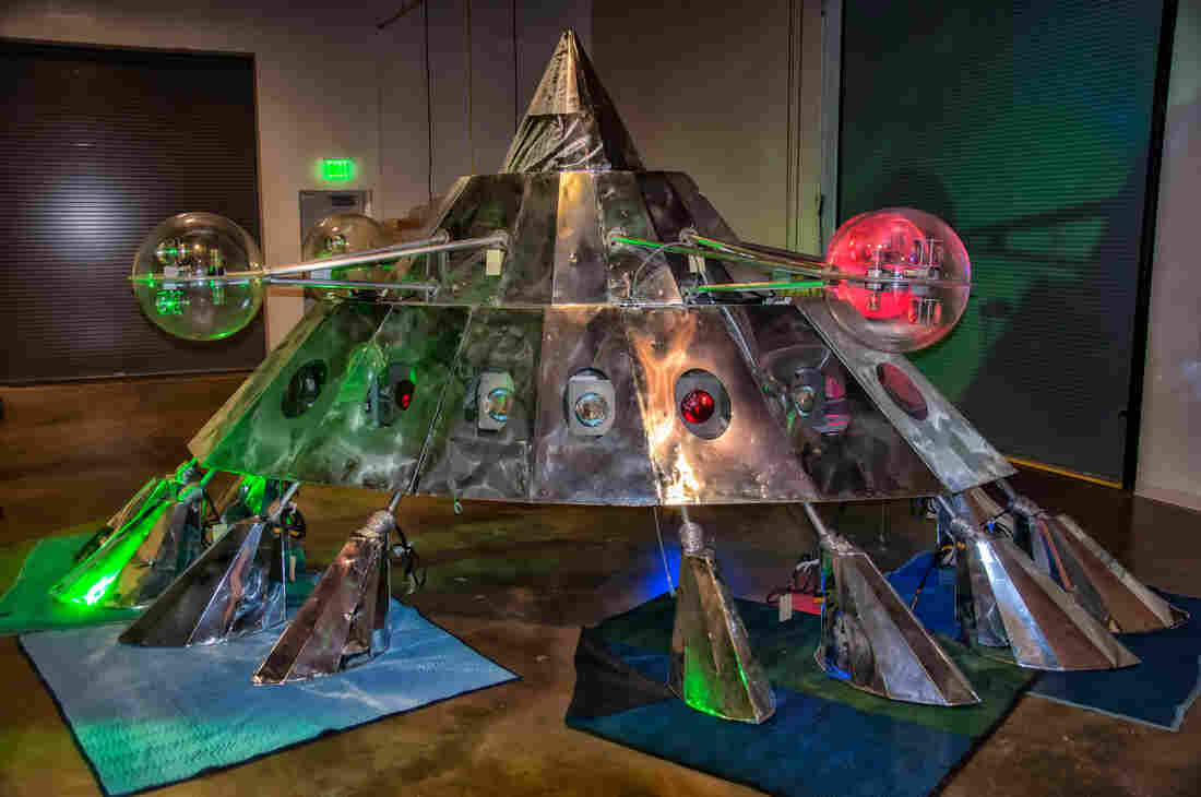 The Mothership awaits its display at the National Museum of African American History and Culture in Washington, D.C.
