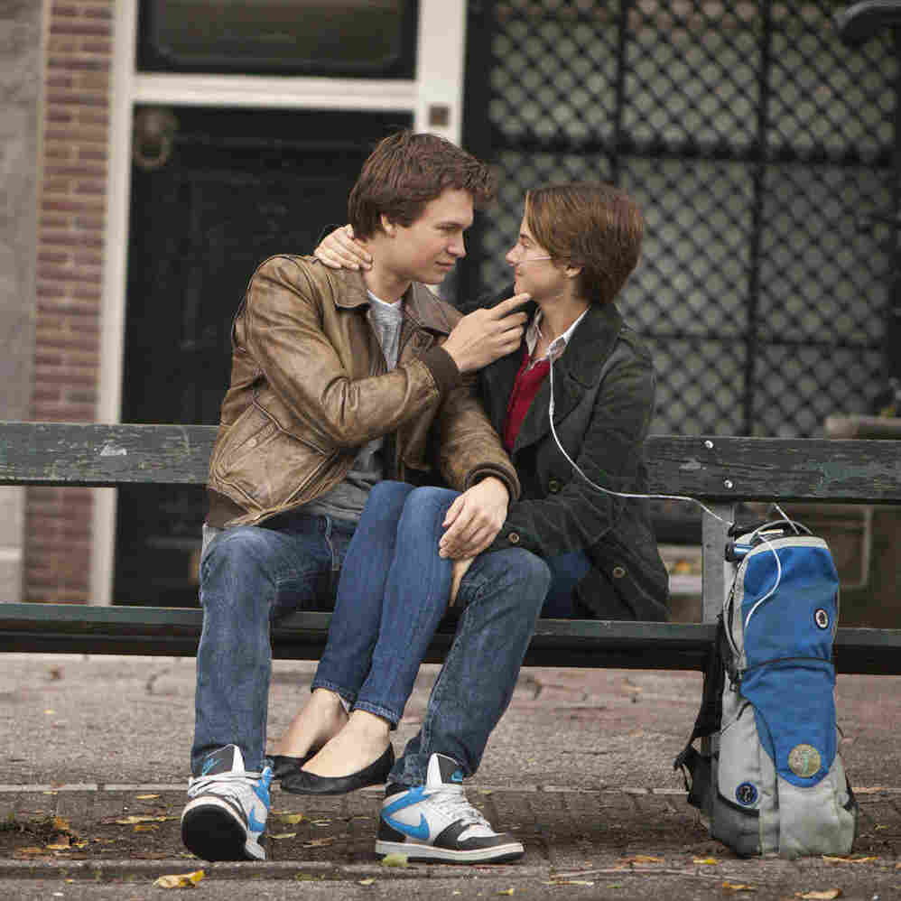 Shailene Woodley and Ansel Elgort play the cancer-stricken lovers in The Fault in Our Stars.