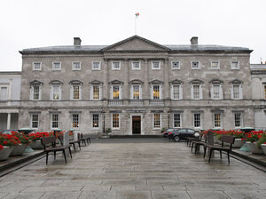 Leinster House is home to the upper house of the Irish parliament. Some members are calling for an investigation into children's deaths and burials at church-run homes.