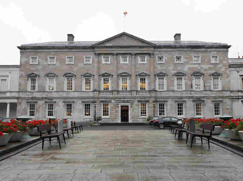 Leinster House is home to the upper house of the Irish parliament. Some members are calling for an investigation into children's deaths and burials at church-run hom