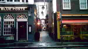 Which way do we turn here? A passageway in London's Soho neighborhood.