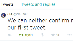 @CIA Tweets; Internet Explodes In Not-So-Covert Sarcasm