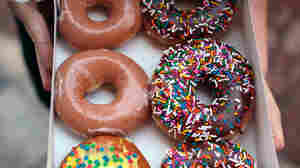 Doughnuts at a Krispy Kreme store in Washington, D.C. An environmental coalition says leading doughnut companies like Krispy Kreme source palm oil from suppliers who are clear-cutting rain forests and destroying wildlife habitat.