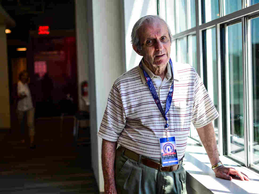 D-Day veteran Eugene Levine was a weather observer with the 82nd Airborne Division and landed near Utah Beach in a glider. He was the division's only weather observer to survive and transmitted the first weather report from Ste. Mere-Eglise.