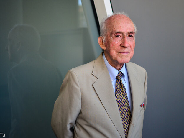 D-Day veteran Ralph Frias was a linguist and forward observer with the 19th Corps 963 Battalion and went over the Normandy cliffs in search of American paratroopers. After the fighting, he interviewed German POWs and French civilians.