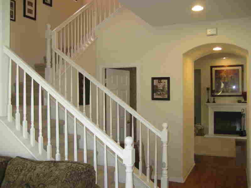 In a house with good feng shui, the staircase leads away from the front door so the energy doesn't rush out before it can do good for the house.