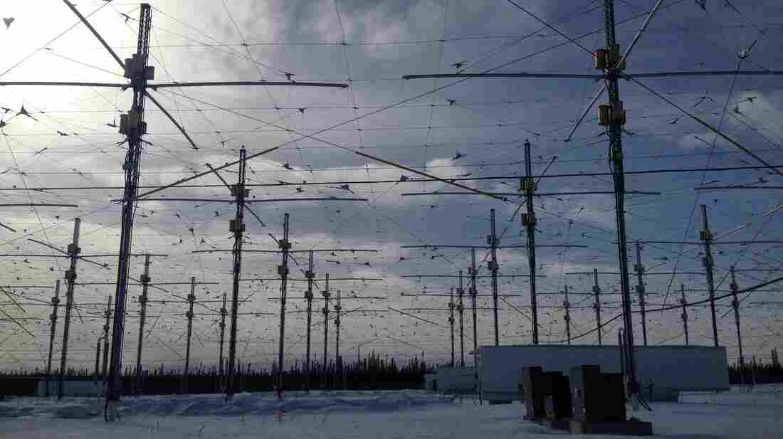 The remote HAARP facility in Alaska has 180 antennas that are used to study the ionosphere.