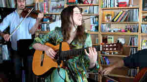 Marian McLaughlin performs at the Tiny Desk.