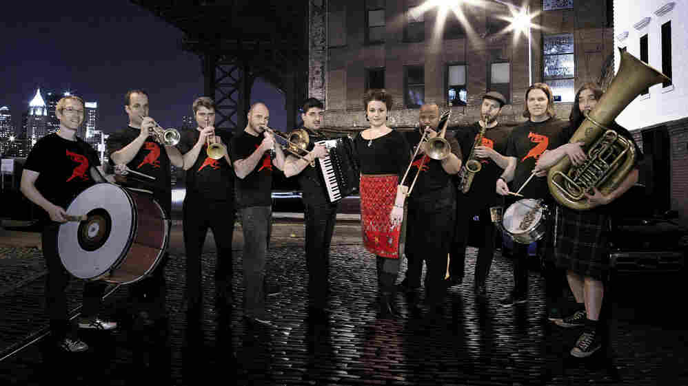 The Brooklyn band Slavic Soul Party! combines Balkan brass with funk and jazz.