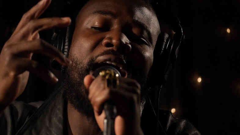 Young Fathers' members perform live at KEXP.