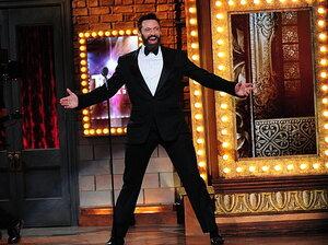 Hugh Jackman gave it all he had at Sunday night's Tony Awards.