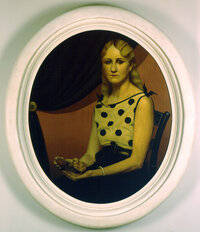 Grant Wood's 1931 Portrait of Nan gives us another view of his sister, who looked much older and grimmer in American Gothic.