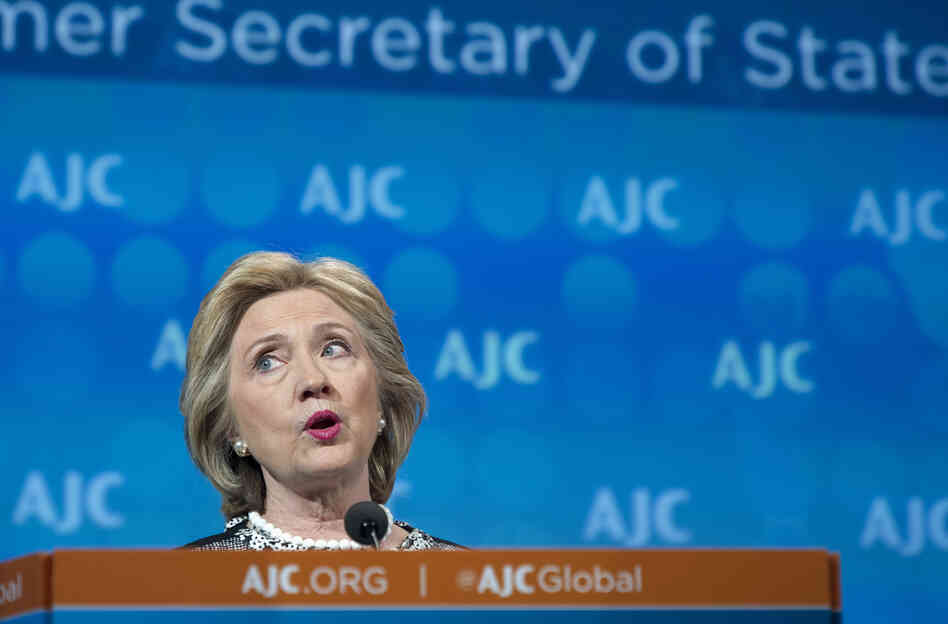 Former Secretary of State Hillary Clinton addresses the American Jewish Committee Global Forum in Washington in May 2014.
