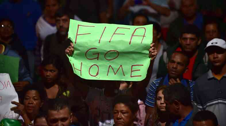 In a recent Pew Reseach Center poll, 61 percent of Brazilians said hosting the World Cup, which begins Wednesday in Sao Paulo, is bad for the country, because it has diverted money from public services.
