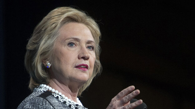 Former Secretary of State Hillary Clinton speaks in Washington on May 14.