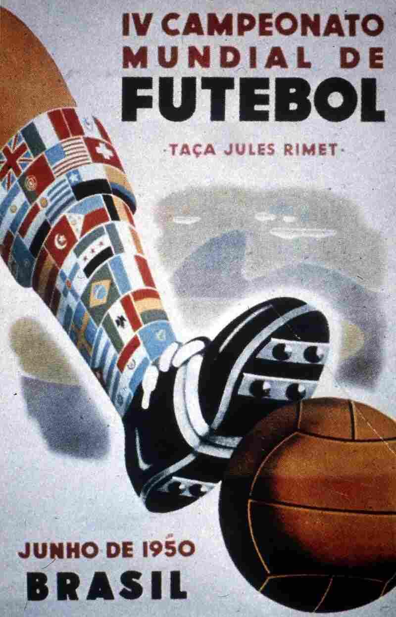 The Soccer World Cup logo, Brazil, 1950.
