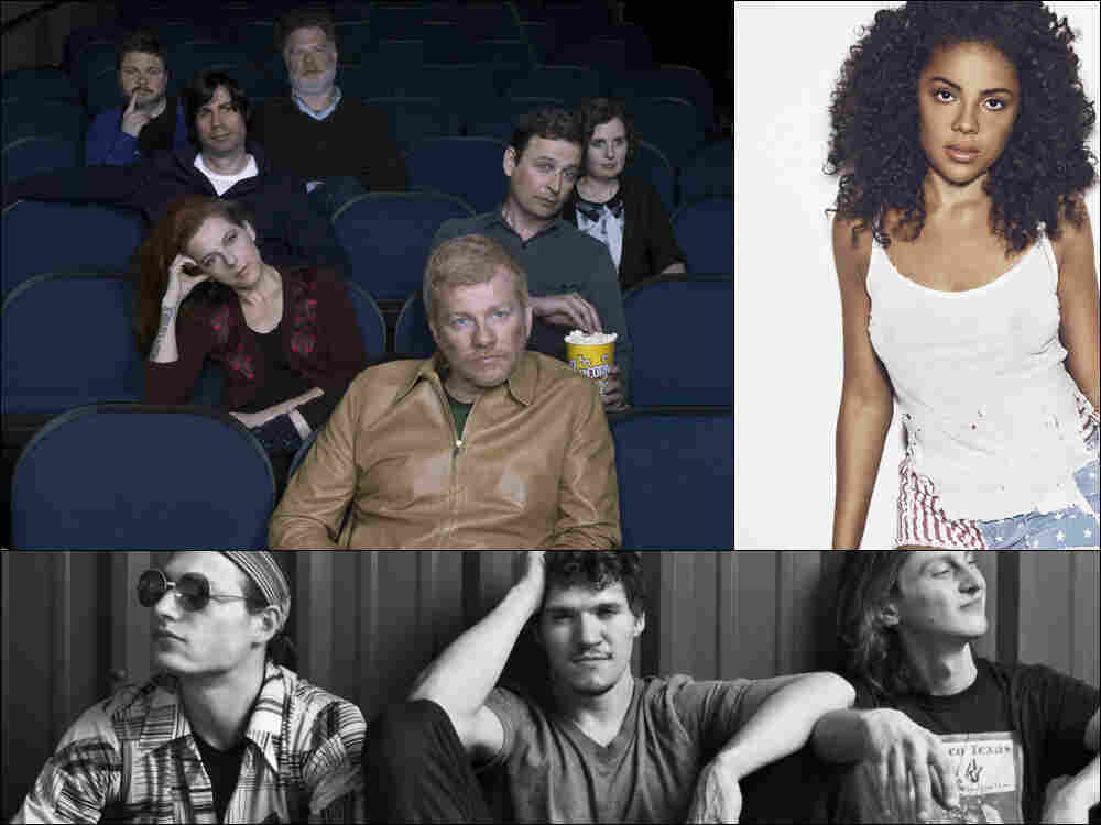 Clockwise from upper left: The New Pornographers, Mapei, Moon Hooch.