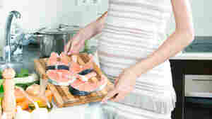 The FDA is recommending that pregnant women eat 8 to 12 ounces per week of fish such as salmon, canned light tuna, tilapia or cod.