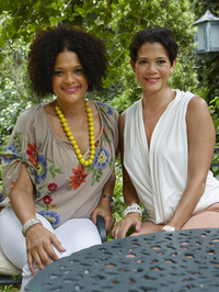 Suzanne (left) and Michelle Rousseau act as the official culinary hostesses for the Jamaican Tourist Board.