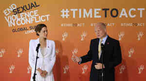Actress Angelina Jolie and British Foreign Secretary William Hague brought together representatives from more than 100 countries for the London conference on sexual violence in conflicts.
