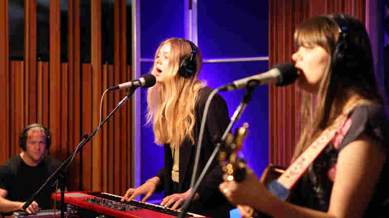 First Aid Kit performs at the KCRW studios.