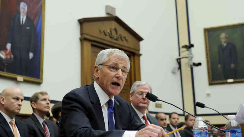 Defense Secretary Chuck Hagel testifies before the House Armed Services Committee on Wednesday about the controversial prisoner swap with the Taliban.