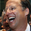 House Majority Leader Eric Cantor, R-Va., left, and Dave Brat react after the polls closed Tuesday. Brat defeated Cantor in the Republican primary, a result that shocked many political analysts.