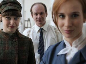 Jenovéfa Boková (as Vlaďka Charouzová), Adrian Jastraban (as Vladimír Charouz), and Tatiana Pauhofová (as Dagmar Burešová) in Burning Bush.