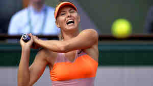 Maria Sharapova returns the ball during the semifinals of the French Open on June 5. She used platelet-rich plasma to treat a shoulder injury.