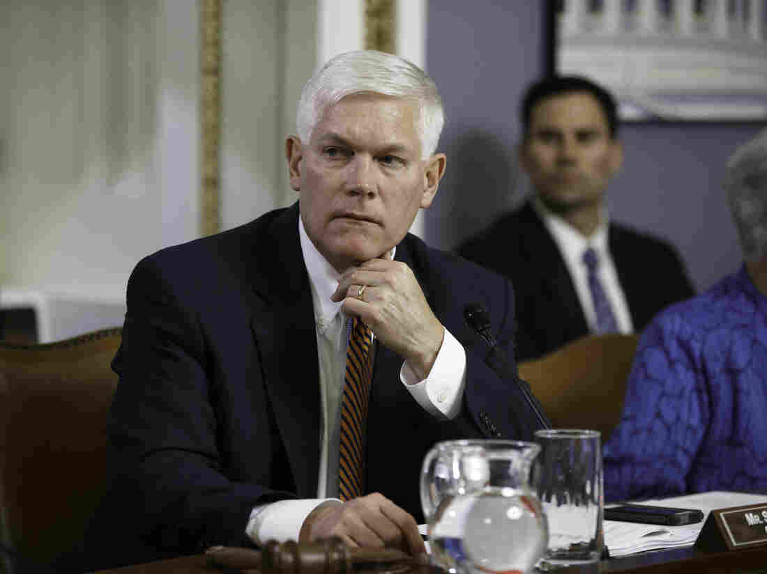 Rep. Pete Sessions, R-Texas, in a hearing of the House Rules Committee last month. Sessions withdrew his name from consideration to replace outgoing House Majority Leader Eric Cantor.