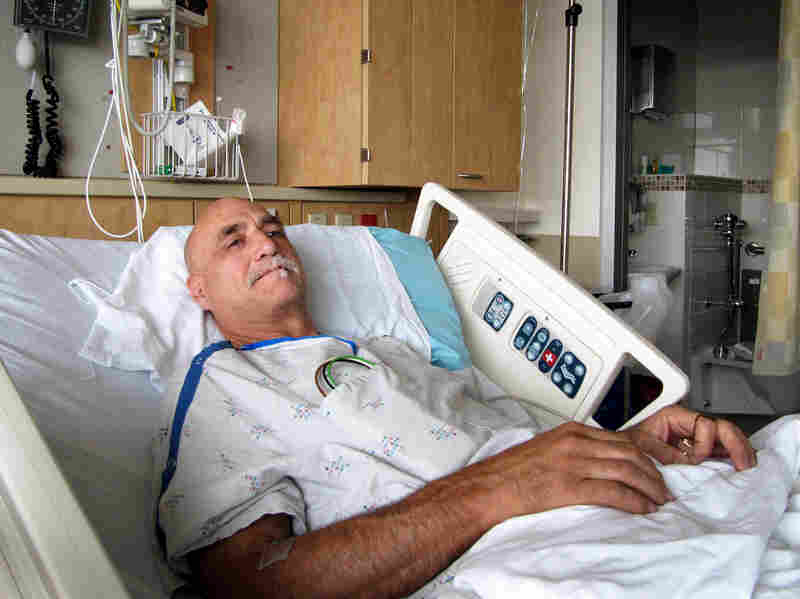 David Chance recuperates at Oregon Health and Science University.