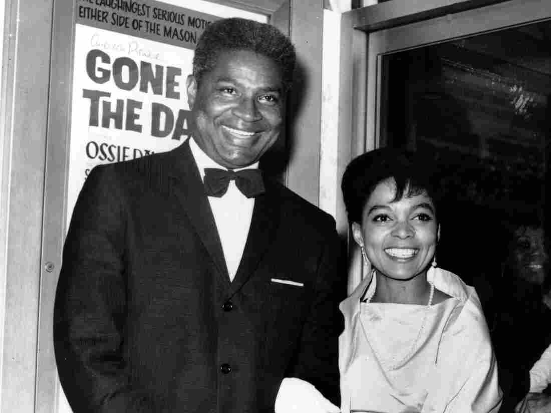 Ossie Davis and Ruby Dee at the opening night gala of their film Gone Are the Days! in 1963. The movie was based on Davis' play Purlie Victorious.