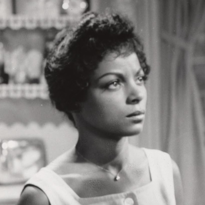 Ruby Dee and Sidney Poitier in the 1961 film A Raisin in the Sun.