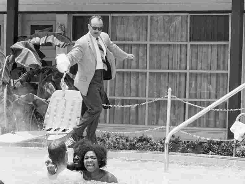 In June 1964, James Brock dumped acid into the water at the Monson Motor Lodge in St. Augustine, Fla. He was trying to disrupt swimmers who were protesting the hotel's whites-only policy.