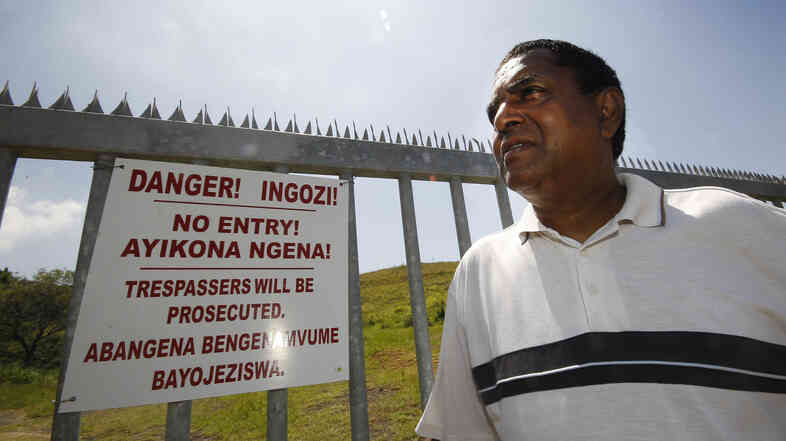 Desmond D'Sa stands by the landfill he helped shut down in Durban.