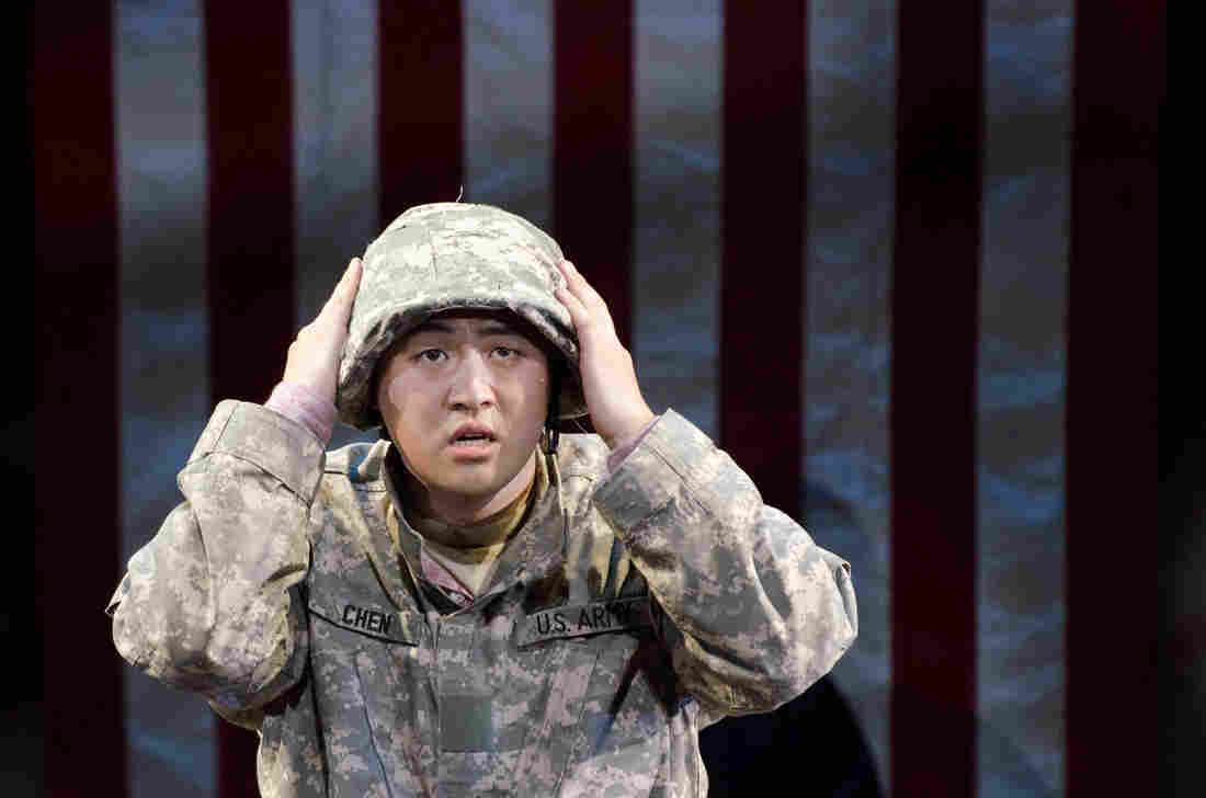 Andrew Stenson plays Pvt. Danny Chen in An American Soldier, a new opera about the hazing and death of the Chinese-American soldier from New York City.