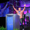 Dave Vockell, CEO of the software company Lyfechannel, takes first place — and wins $20,000 — in the Code-a-Palooza Challenge at Health Datapalooza 2014.