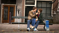 In The Fault in Our Stars, Gus and Hazel, played by Ansel Elgort and Shailene Woodley, play two teenagers with cancer.