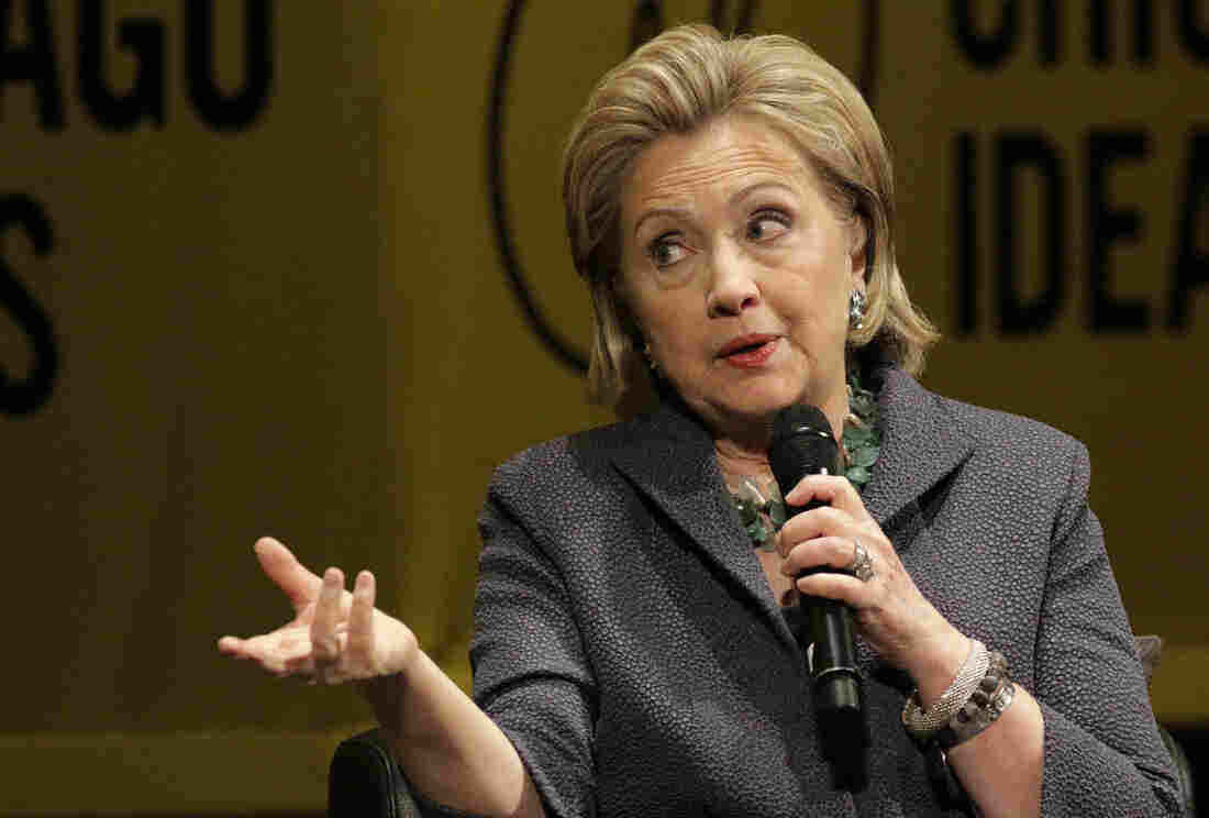 Hillary Clinton promotes her new book, Hard Choices, in Chicago on Wednesday. The former senator and secretary of state had a lively and much-talked-about chat this week with Fresh Air's Terry Gross.