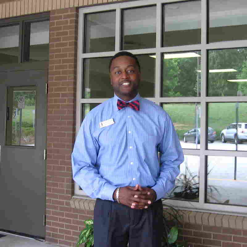 "Ricardo Quinn, principal of Chesney Elementary School in Duluth, Ga., helps develop young black male teachers with the ""Call Me Mister"" program"